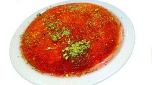Watan Kabob's kanafeh is made with cheese and sugar